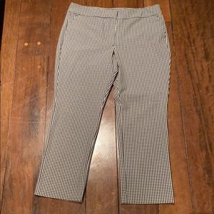 Ann Taylor gingham black and white slacks/pants